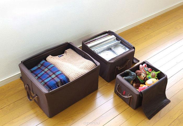 Тканевые ящики для хранения