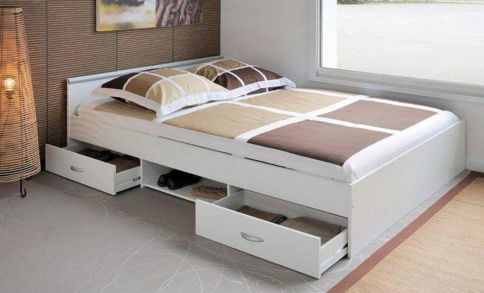 Двуспальная кровать с ящиками Икея