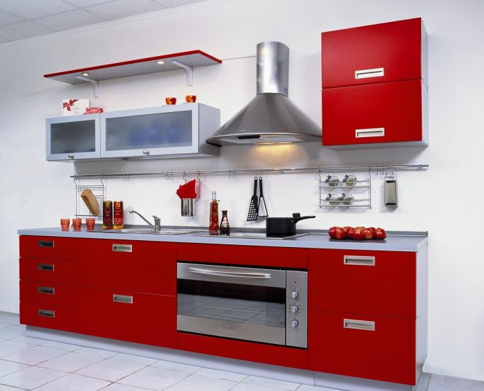 кухня мебель без ручек