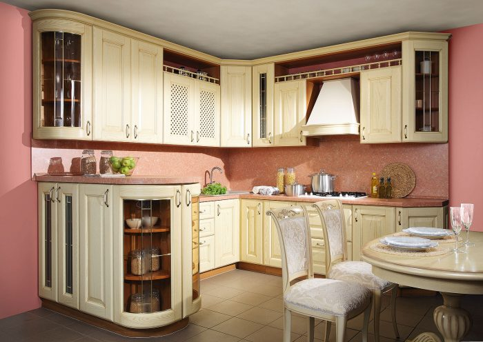 массив мебель для кухни