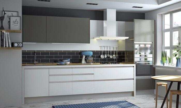 мебель для кухни без ручек