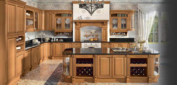 мебель на кухню из массива