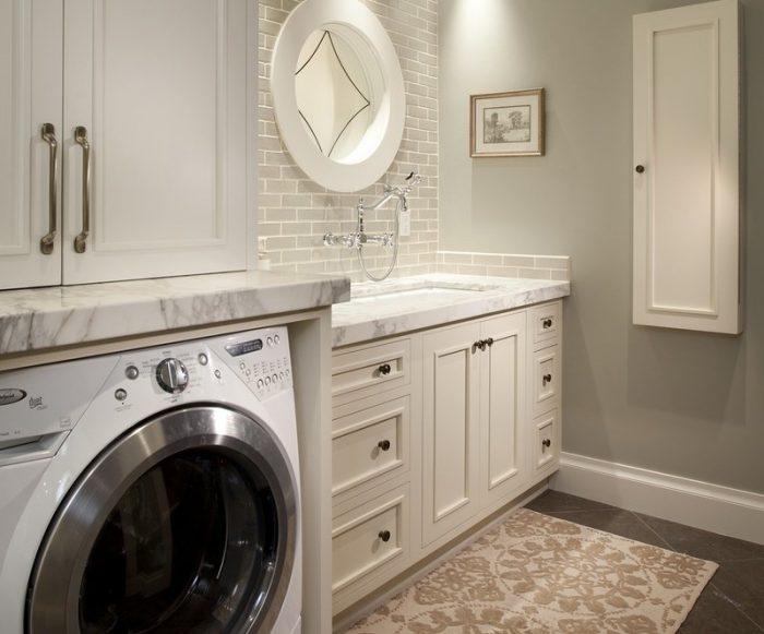 шкаф в ванной над стиральной машиной