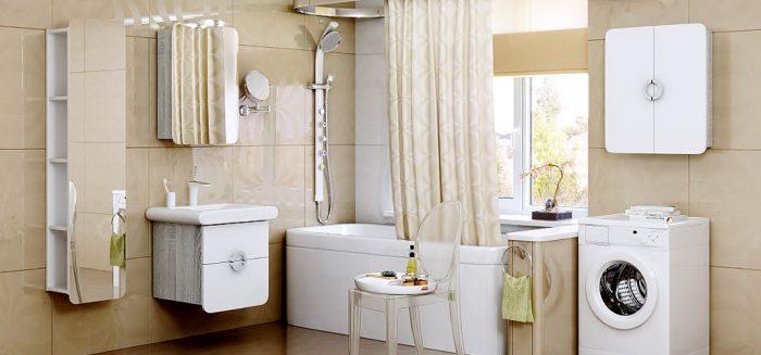ванная шкаф стиральная машина