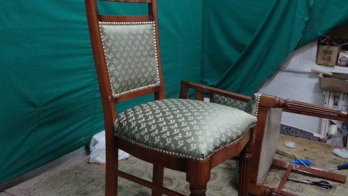 перетянуть стул своими руками