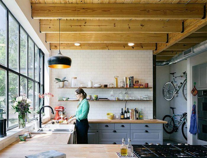 кухня стиль лофт