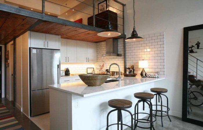 лофт маленькая кухня