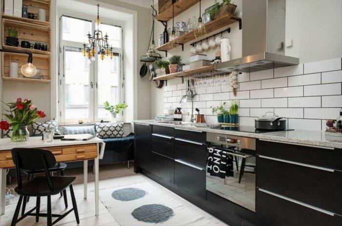 полки открытые кухня