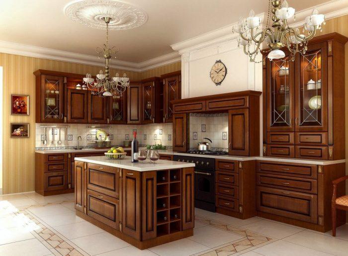 интерьер кухня классика