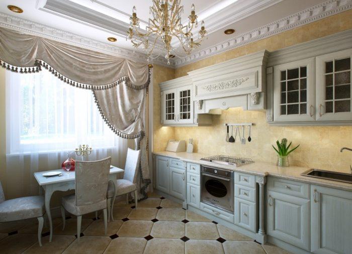 классическая кухня освещение