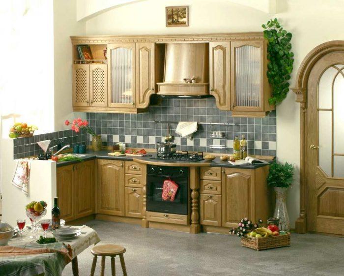 кухня массив дерева