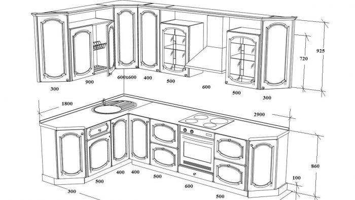 кухня размеры какие