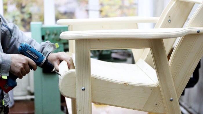 фанера кресло