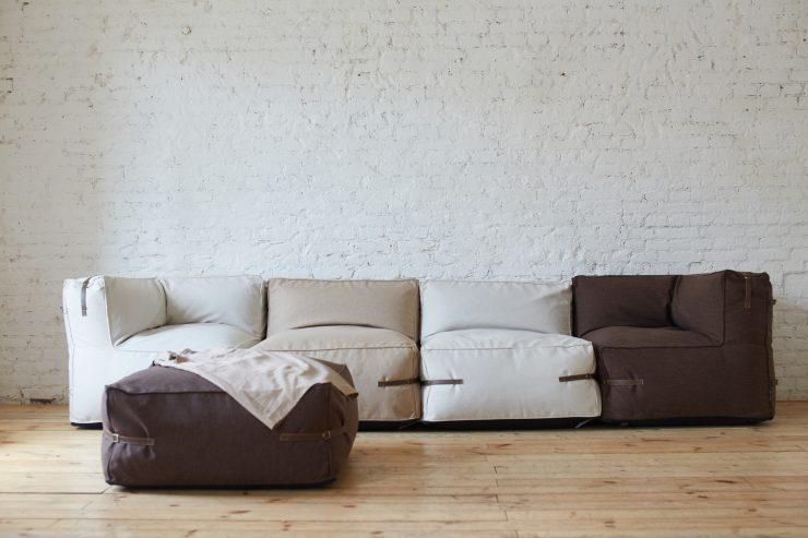 без каркаса диван
