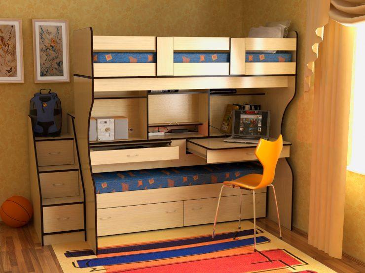 кровать стол выдвижной