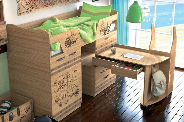 кровать выдвижной стол