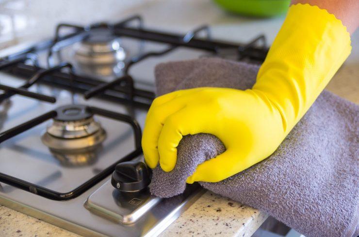 отмыть кухню