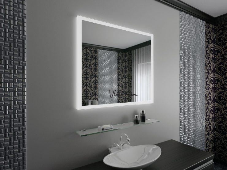 зеркало на плитке