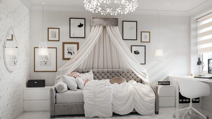 кровать и балдахин
