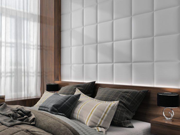 мягкие панели спальня