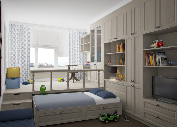 подиум и кровать