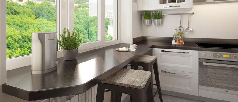 столешница-вместо-подоконника-на-кухне