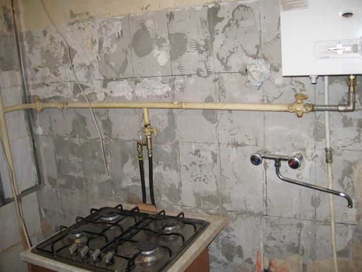 труба газовая кухня