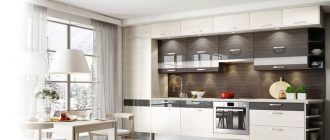 кухня-со-шкафами-до-потолка