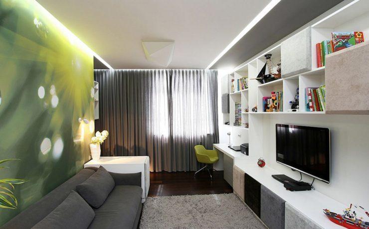 мебель узкая комната