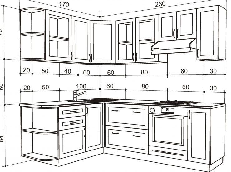 размеры кухня
