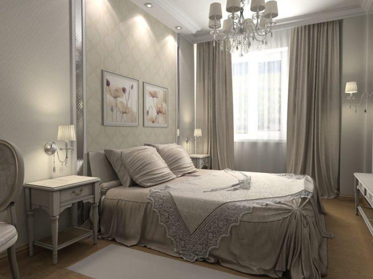 узкая спальня