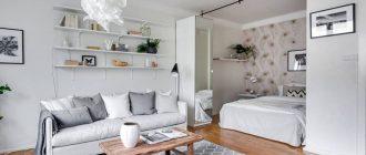 кровать-в-нише-в-однокомнатной-квартире