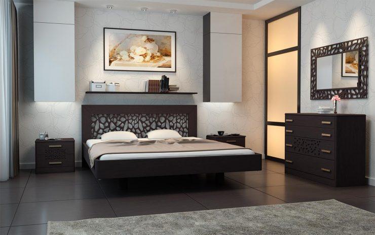 мебель темная спальня